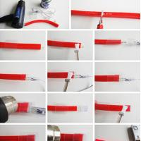 Led edit 2016 software suitable 120leds/m 2835smd usb neon light for any application waterproof rgb neon light pipe
