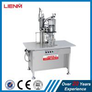 Cheap High Efficiency Semi Automatic Aerosol Production Line/Automatic Aerosol Filling & Sealing Machine body spray filling wholesale