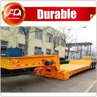 Cheap front loading 120Tons 4 axles flatbed semi-trailer with detachable gooseneck wholesale