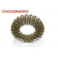 Good Elasticity 4.0mm Sofa Upholstery Zig Zag Springs For Furniture In Roll Golden Color