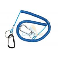 Buy cheap 8 Meter Fishing Rod Lanyard Aluminum Carabiner Blue Flexible Fishing Safety Line from wholesalers