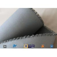 Cheap 1550G 1.5MM Thermal Insulation Materials Grey Silicone Coated Fiberglass Fabric wholesale