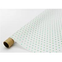 Cheap Fade Resistant Hot Stamping Tissue Paper 17gsm Green Dot For Bouquet wholesale