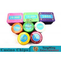 Cheap Multi - Color Print Crystal Casino Poker Chip Set Tough And Durable wholesale