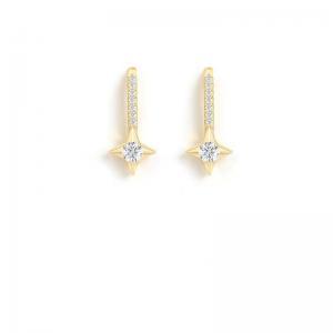China 2021 Custom New Model 925 Silver Mini Charms Stars Earring 14k Gold Plated Hoop Earrings on sale