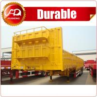 Cheap 2016 best sellers competitive price new tri-axle flatbed semi trailer with side guarders for sale wholesale
