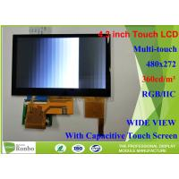 Buy cheap 4.3 inch 480x272 Industrial LCD Module bonding Capacitive Touch Panel for from wholesalers
