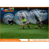 Cheap Clear TPU Inflatable Human Knocker Ball , Inflatable Ball Suit wholesale