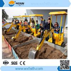 Cheap 0.75kw Children excavator in amusement park wholesale