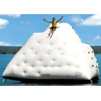 Cheap 1 Side For Sliding And 3 Sides For Climbing Inflatable Iceberg For Water Sport Games wholesale
