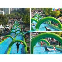 Cheap 1000 Feet Giant Splash Inflatable Water Slide , Commercial Water Slides wholesale