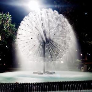 Cheap Outdoor and Indoor Garden Ornaments Park Dandelion Water Fountain wholesale