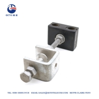 Cheap ADSS Tower ISO9001 Steel 14mm Down Lead Clamp wholesale