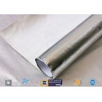 Cheap Waterproof 880g Light Reflect Silver Coated Fabric High Temperature Adhesive wholesale