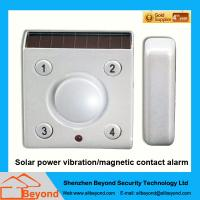 Cheap Solar power vibration/magnetic contact alarm with rechargeable Li-Ion backup batter wholesale