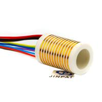 Cheap 12 Circuits Separate Slip Ring Gold to Gold Contact 250mm Flexible Rotary Electrical Swivel Joint wholesale
