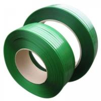 Cheap Impact Resistance Cargo Pet Packing Belt , Plastic Strapping Tape Green Color wholesale