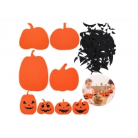 Cheap Diy 1pc/Bag Felt Halloween Decoration Pumpkin Face Stickers wholesale