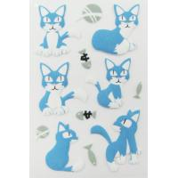 Cheap Pet Die Cut 3d Animal Stickers , Handbag Little Cat Puffy Stickers Offset Printing wholesale