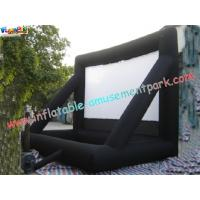 Cheap Commercial Portable 0.55mm PVC Tarpaulin Inflatable Projection Screen For Outdoor wholesale