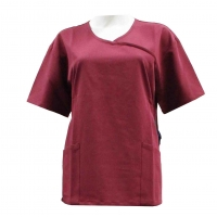 China 180 GSM Lady Polyester 62 % Rayon ( Viscose) 33% Spandex 5% 180gsm Short Sleeve Medical Uniforms on sale