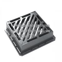 Quality BS EN124 Class D400 Heavy Duty Ductile Iron Gully Gratings Double Triangular for sale