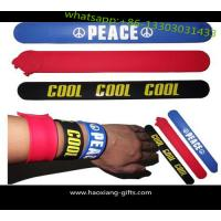 Cheap Fashion silicone slap bracelet /slap wristband rubber band with printing custom logo wholesale