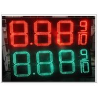 Cheap 20'' Red / green color LED Gas Station Sign for Fuel advertising Petrol , 8000nits Brightness wholesale