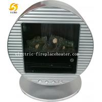 Cheap Round Portable Chimney Free Mini Electric Fireplace Log Effect Electric Stove wholesale