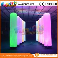 Cheap Christmas Party / Wedding Inflatable LED Lighting Pillar 1 Year Warranty wholesale