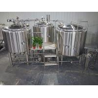 Cheap 1000L Semi Automatic Stainless Steel Beer Making Equipment With Three Vessels wholesale