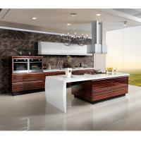 Cheap Marble Countertop Closeout Wood Veneer Kitchen Cabinets , Rosewood Kitchen Cupboards wholesale