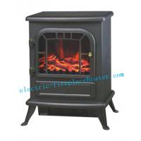 Cheap Decorative Black Classic Flame Electric Fireplace Log Effect Electric Stove wholesale