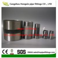Cheap 1/4-4stainless steel threaded pipe nipples running nipple with NPT/BSP thread wholesale
