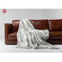 Cheap Home Faux Fur Blanket Snow Leopard Fancy Throw  Warm Harmless used in high-end hotels wholesale