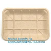 Cheap Meal Prep Eco Friendly Dinnerware Corn Starch Round Food Tray Lid Biodegradable wholesale