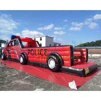 Cheap Digital Printing Police Car Inflatable Obstacle Course For Advertisement wholesale
