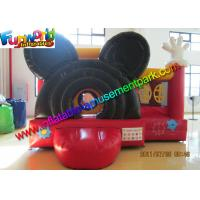 Cheap Mickey Mouse Inflatable Bounce Houses , Small Jumping Castle With Repair Kit wholesale