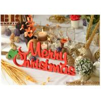 Cheap Christmas table decoration wood sign Merry Christmas Front door wooden sign red sign wholesale