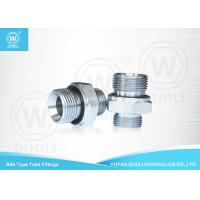 Cheap British Metric Pipe Thread Fittings Bite Type , Hydraulic Tube Fittings With ED Rin wholesale