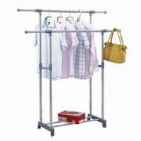Cheap Retractable Clothes Rack, Made of Metal, Environment-friendly, Available in Various Sizes wholesale