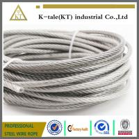Cheap 304 stainless steel wire rope plastic packets encapsulated 6mm thick coated plastic laund wholesale
