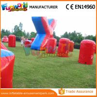 Cheap Customized Color Inflatable Air Bunker 0.6mm PVC Tarpaulin Paintball Inflatable Bunkers wholesale