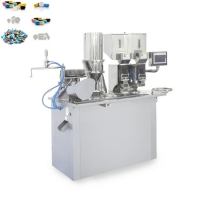 Buy cheap Double Feeding Powder Pill 99% Capsule Filling Machine from wholesalers