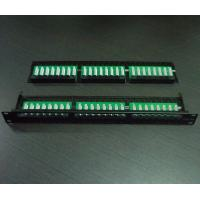 China 1U 48Port Cat5e/Cat6 Patch Panel on sale