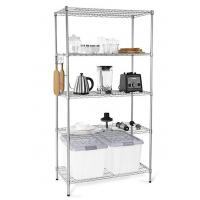 Cheap H173 Simple Design Metal Display Shelf Carbon Steel Beautifully Silver - Finished wholesale