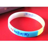 Cheap Exercise / Party Custom Silicone Rubber Wristbands Multi Colors Segmented wholesale