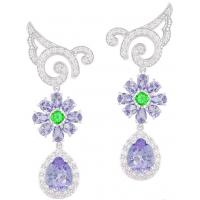 Cheap Luxury Stylish Earrings Multicolor Crystal Drop Earrings For Women Design wholesale
