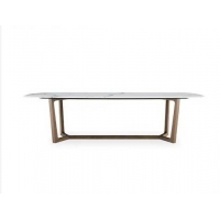 Cheap Y Shape Wide Bar Wooden Leg Rectangular Marble Dining Table wholesale