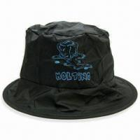 Cheap Foldable Large Fisher Hat, Made of Polyester, with Silkscreen Printing Logo, Ideal for Gifts wholesale